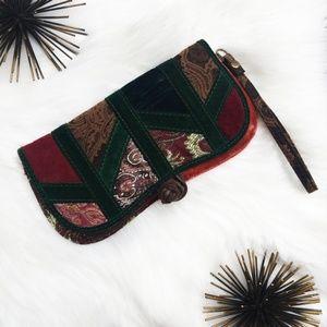 Lucky Brand Velvet Tapestry Wristlet